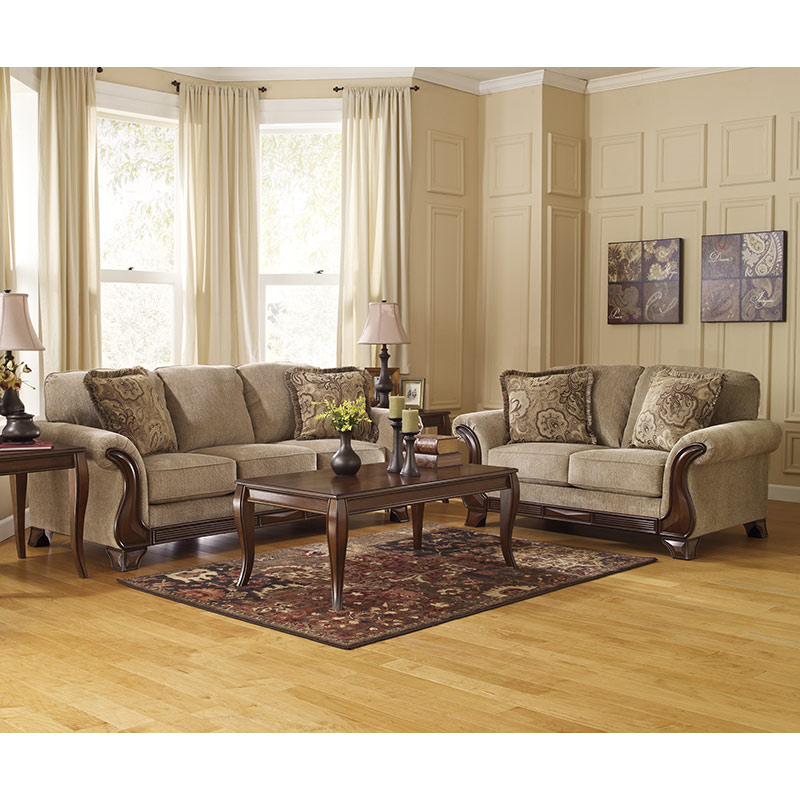 Ashley Vandive Two Tone Rent To Own Sofa Amp Loveseat Sets