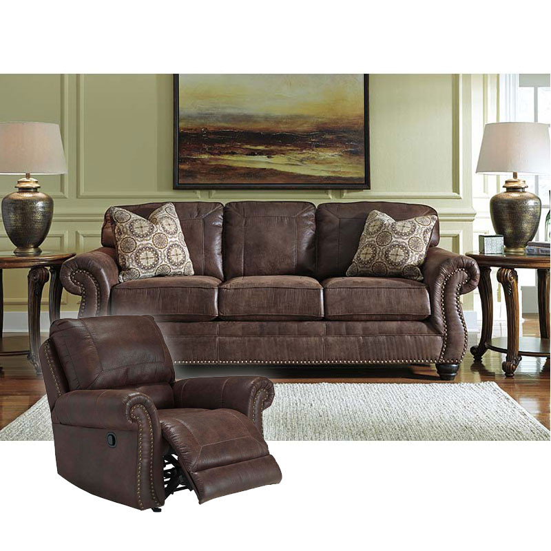 Ashley Breville Espresso Rent To Own Sofa Loveseat Sets