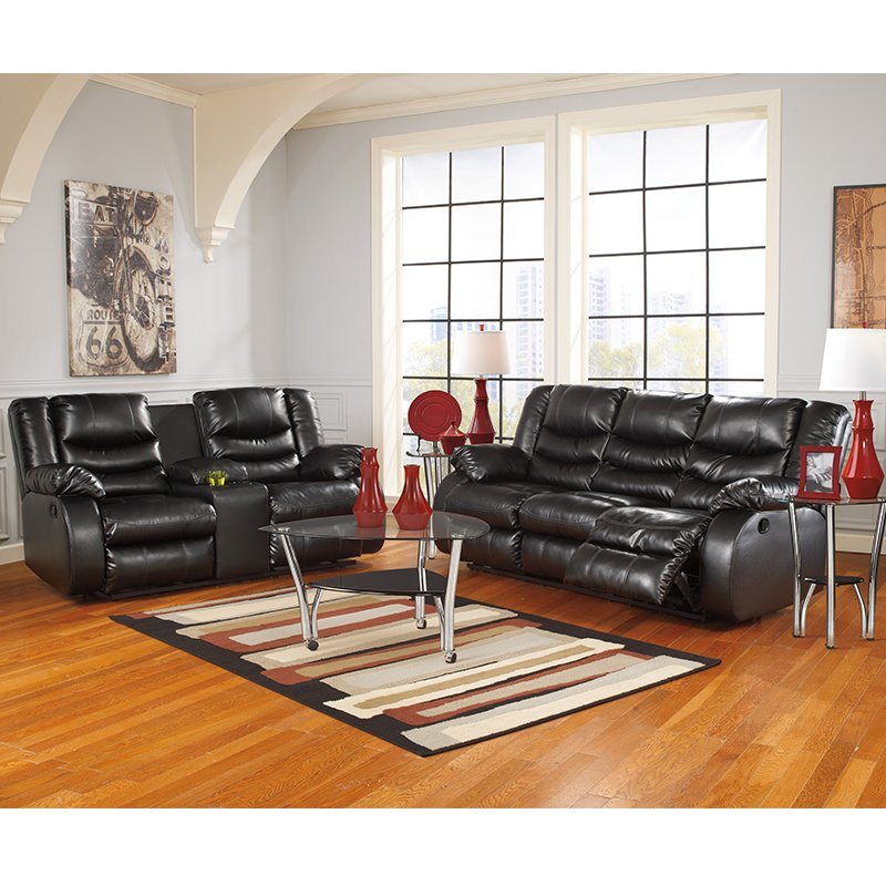 Ashley Linebacker Black Rent To Own Sectional Reclining Sets