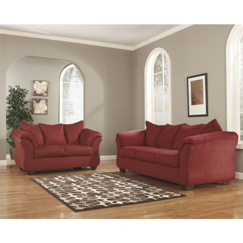 Ashley Darcy Salsa Rent To Own Sofa Loveseat Sets