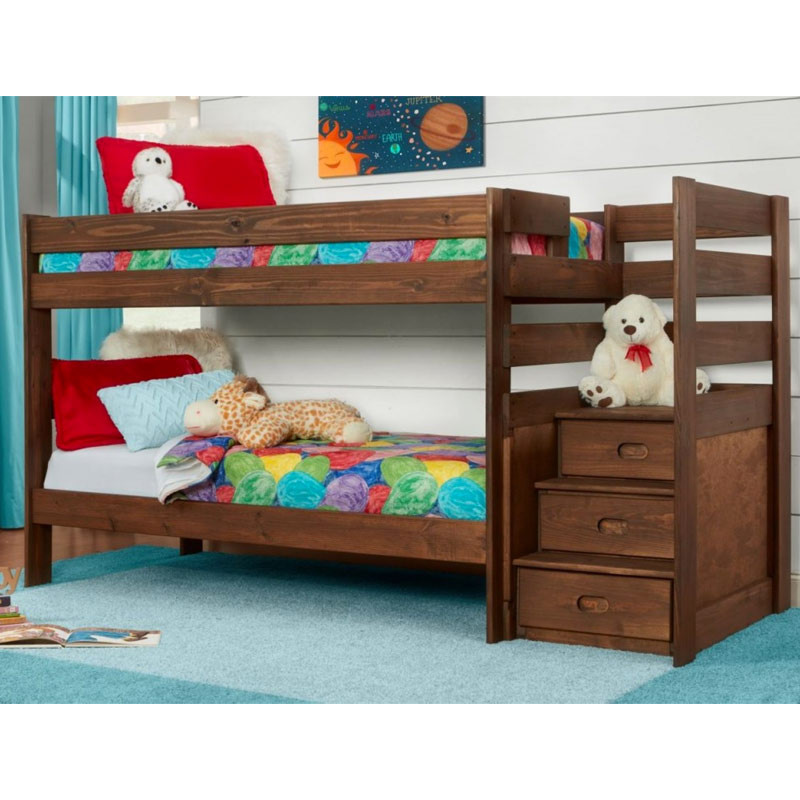 Simply Bunkbeds Twin Over Twin Stair Bed Rent To Own Furniture